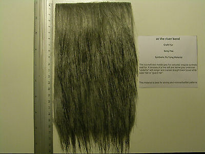 Grey Fox Long Pile Craft Fur, Fly Tying Material
