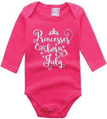 Princesses Month (June,July, August Onepiece Baby Girls NEW Custom made 0-9m