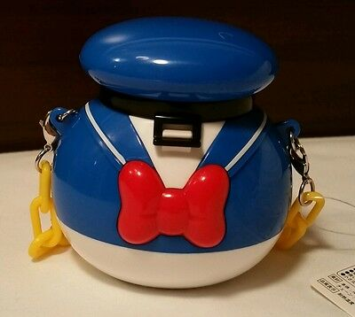 "TDR Japan Tokyo Disney Donald Mini Popcorn Candy Bucket 3.5"" Ornament Chain"