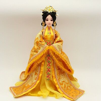 NEW RARE Handmade OOAK Chinese Collectible Toy Dolls Yellow Dress Free US ship