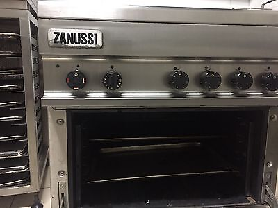 zanussi 4 Burner Stove Oven 3 Phase Electric Stainless Steel Commercial