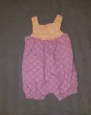 VGUC Cherokee Baby Girl Clothes 3 Months One Piece Sleeveless Geometric Romper