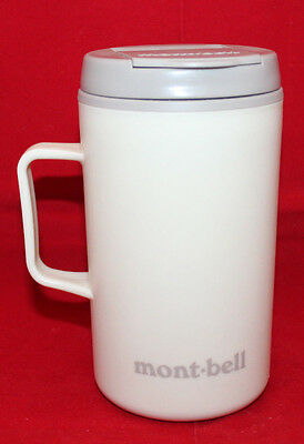 Mont-bell Logo Insulated Thermos Coffee Tea Travel Tumbler Cup Lid Ivory 330ml