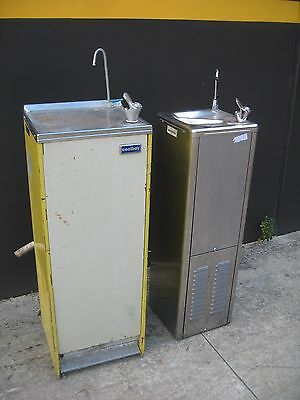 2 x DRINK FOUNTAINS, WATER COOLERS,CHILLERS, FREE STANDING. COOLBOY & AQUACOOLER