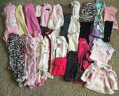 31 Pieces! Fall Winter Spring Baby Girl 3 Month Lot Jacket~Sleepers~Outfits