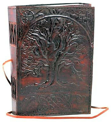 Leather Bound Paper Blank Journal Notebook Diary Tree of Life 5x7 By AzureGreen