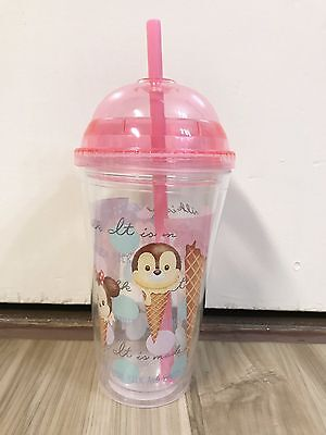Tsum Tsum Japan Ice Cream Limited Edition Travel Cup w/ Dome Lid