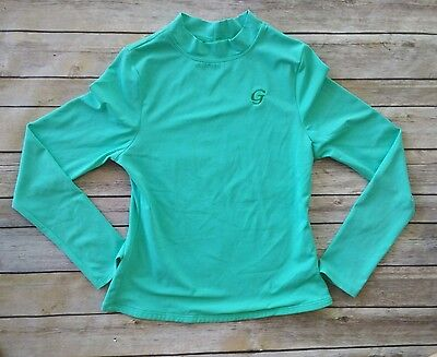 Youth Kids Lands' End Swim Bathing Suit Shirt Long Sleeve Green M 8-10