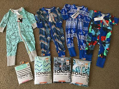 Bulk Bonds Boy Bundle.  8 Pieces.  Size 00.  New