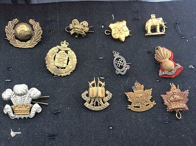 Job Lot  Of Old British Military Army Badges