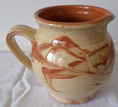 Pichet jaspé en terre vernissée / French Pottery  Pitcher