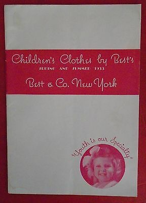 1933 Best & Co Lilliputian Bazaar Vintage Childrens Baby clothing catalog NY
