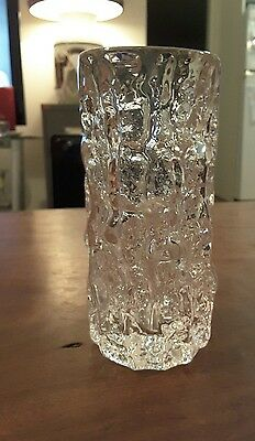 Whitefriars clear vase (155mm x 70mm)
