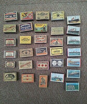 matchboxes wooden boxes some Swedish