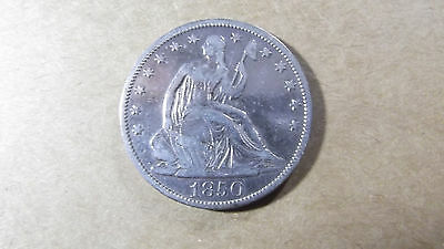 50C  1850 O  Capped Bust, Reed Edge