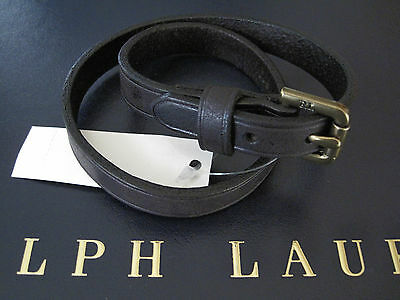 NEW RALPH LAUREN Polo Leather Double Wrap Equestrian Leather Bracelet Wristband