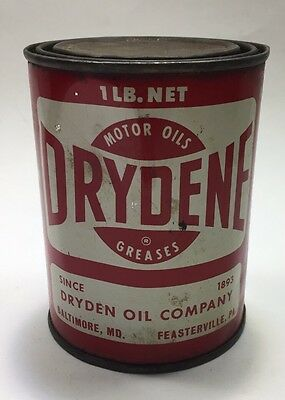 Vintage Drydene Grease Can 1 Pound Partially Full