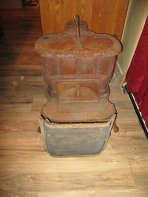 Primitive Cast Iron Small Wood Stove (Franklin) Brown Stove Works Cleveland Tenn