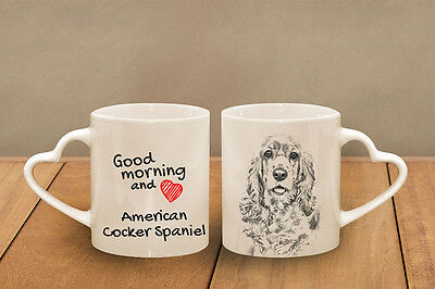 "American Cocker Spaniel - ein Becher ""Good Morning and love, heart"" Subli Dog CH"