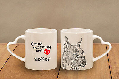 """Boxer - ein Becher """"Good Morning and love, heart"""" Subli Dog, CH"""