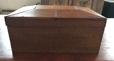 Shaker Sewing Box With thimble and scissors And Velvet Inside With Mirror