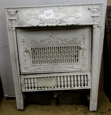 Complete W/cover Antique Victorian Iron Fireplace Surround An Indy Estate #24