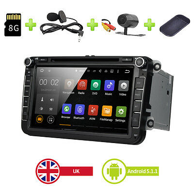 Android 5.1 Car DVD Player Stereo Radio GPS VW T5 Transporter Passat Seat Golf