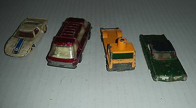 LESNEY / MATCHBOX 4 die-cast toys cars and trucks circa 1970's