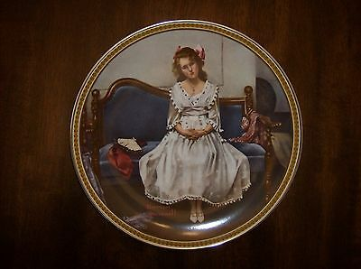 "Vintage 5th Issue Rockwell ""Waiting At The Dance"" Knowles 8.5"" Fine China Plate"