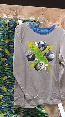 Cat & Jack Boys Pajamas 2 Piece Set Classic Gray XL 16 NEW