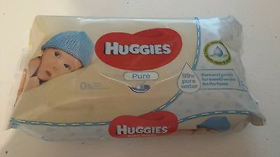 Huggies Pure Baby Wipes 56 wipes brand new