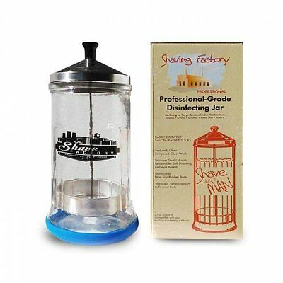 Shaving Factory Professional Grade Disinfecting Jar for Salons and Barbers
