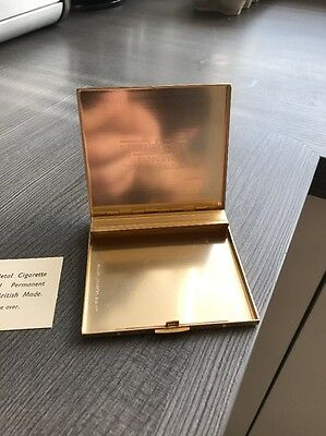 gold cigarette case, Antique, Wellworthy Case, With Box And Authentic Card