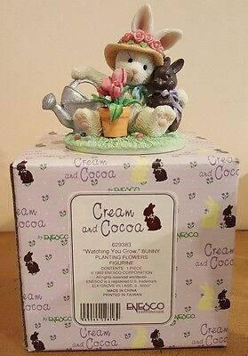 Enesco Cream N Cocoa Watching You Grow Planting Flowers With Box !