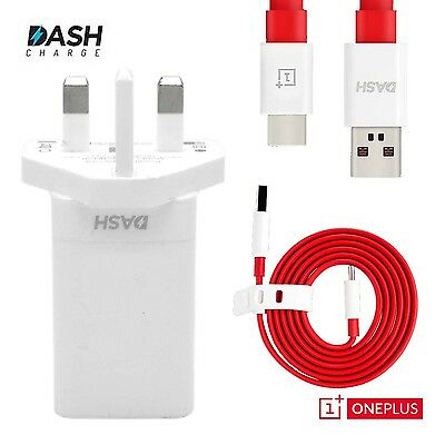 OnePlus Dash UK 3 Pin Wall Charger Power Adapter Plug Cable No Retail Package