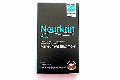 Nourkrin Man Hair Preservation Programme - 60 Tablets 1 Month Programme