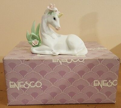 Enesco Elusive Legends Baby Unicorn BY RARE 1990 with Box!