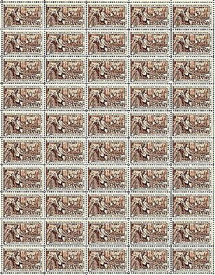 1958 - LINCOLN-DOUGLAS DEBATES - #1115 Full Mint Sheet of 50 Postage Stamps