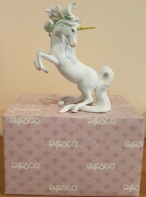 Enesco Elusive Legends Rearing Unicorn BY GG Santiago 1986 with Box!