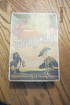 Milky Way advertising box, color, MARS, chocolate, WHEN YOU CRAVE GOOD CANDY,old