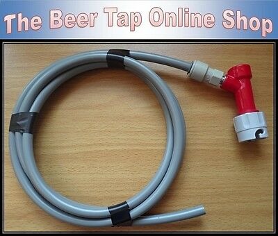 "3/8"" CO2 Beer Gas Line / Pipe + Pin Lock Disconnect, JG Push-Fit for Corny Keg"