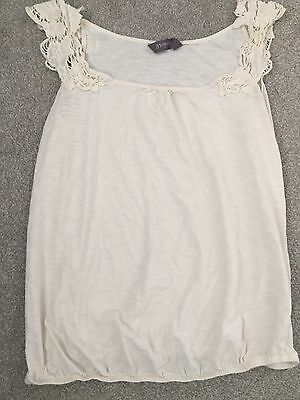 Cream Maternity Top With Lace Style Sleeves Size 12 From New Look