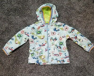 EUC Boutique Oilily Toddler Boys Light Hooded Windbreaker Jacket Size 2T or 3T