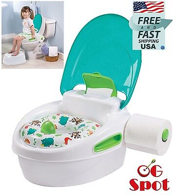 Baby Toddler Step Stool Toilet Potty Training Chair Soft Padded Seat Stand-alone