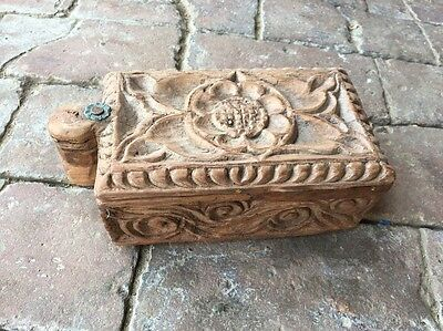 Vintage Antique Hand Crafted Wooden Masala Spice Box