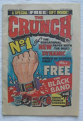 CRUNCH  COMIC  No.1  with  ADVERTISING FLYER – EF++ and RARE!!!