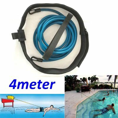 Swim Bungee Trainer Belt Swim Resistance Leash Stationary Swimming System AU