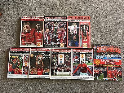 Manchester United Official Yearbook 93/94 & 1995-2003 Job Lot