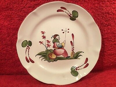 Antique French Faience Chinoiserie Hand Painted Plate c.1800's, ff608