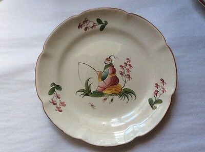 Gorgeous Antique Hand Painted French Faience Chinoiserie Plate c1800's, ff518
